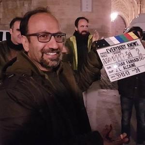 اصغر فرهادی در پشت صحنه فیلم سینمایی «همه می دانند»