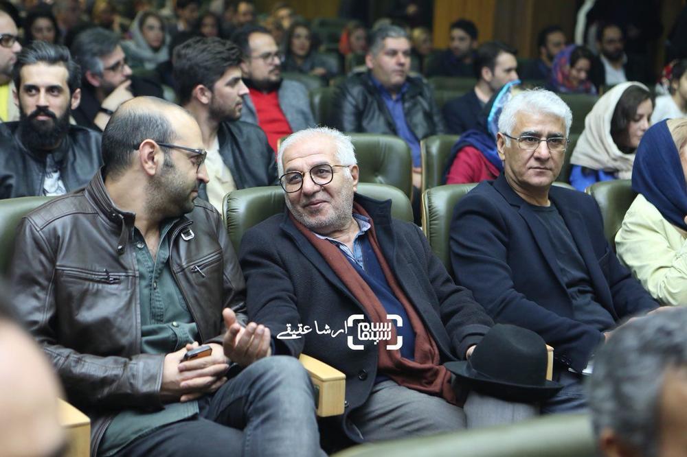 مهران نائل، فرید سجادی حسینی و پرویز آبنار در اکران خصوصی فیلم «آذر»