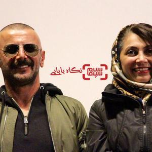 امین حیایی و همسرش نیلوفر خوش خلق در اکران مردمی فیلم «ثبت با سند برابر است»