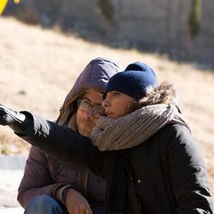 پگاه ارضی و اشکان اشکانی در پشت صحنه فیلم «نبات»