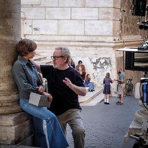 """میشل ویلیامز و ریدلی اسکات در پشت صحنه فیلم """" تمام پول های جهان"""""""