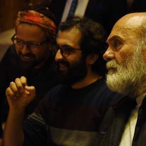 هومن سیدی، بهروز شعیبی و جمشید هاشم پور در پشت صحنه سریال «گلشیفته»