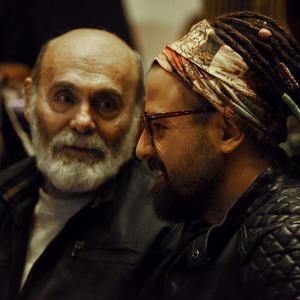 هومن سیدی و جمشید هاشم پور در پشت صحنه سریال «گلشیفته»