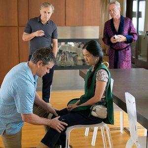 """مت دیمون, کریستف والتس, هانگ چائو و اودو کی یر در نمایی از فیلم"""" کوچک سازی"""""""