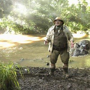 """جک بلک در نمایی از فیلم سینمایی """"جومانجی: به جنگل خوش آمدید"""""""