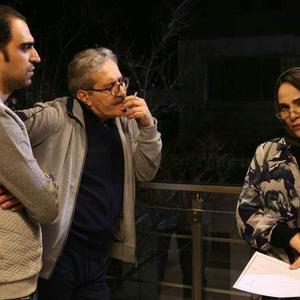 رویا نونهالی، شاهرخ فروتنیان و امیرحسین عنایتی در پشت صحنه فیلم «وقت رویا»