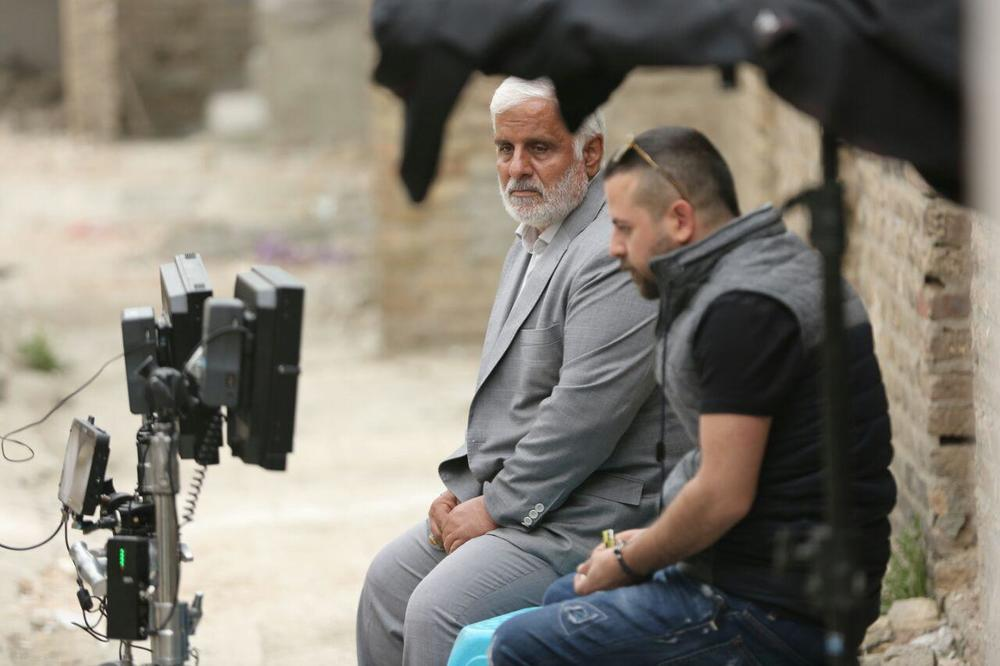 هومن سیدی و سعید سعدی در پشت صحنه فیلم «مغزهای کوچک زنگ زده»