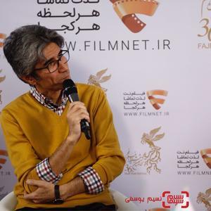رضا مقصودی در نشست خبری فیلم «خجالت نکش» در برنامه دو قدم تا سیمرغ در سینما ملت