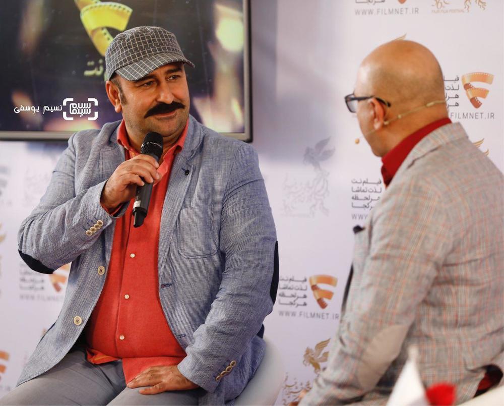 مهران احمدی در نشست خبری فیلم «مصادره» در برنامه دو قدم تا سیمرغ در سینما ملت