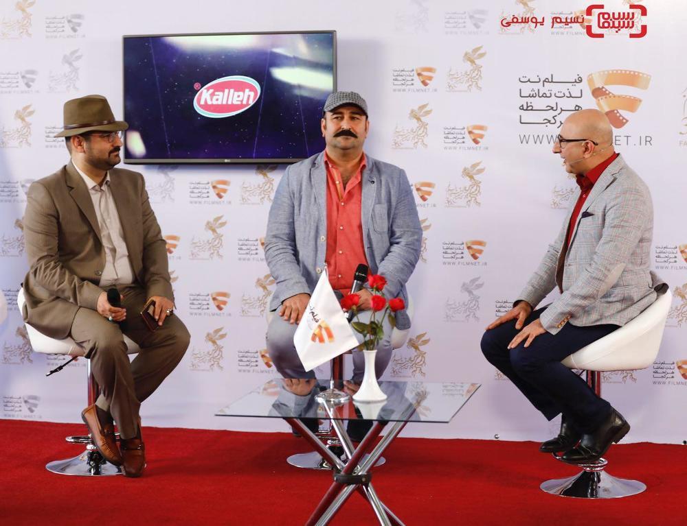 مهران احمدی و محمدحسین قاسمی در نشست خبری فیلم «مصادره» در برنامه دو قدم تا سیمرغ در سینما ملت