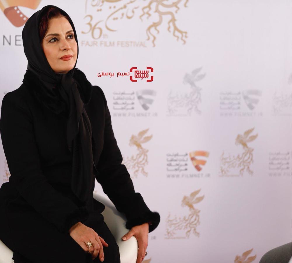 مریلا زارعی در نشست خبری فیلم «سوء تفاهم» در برنامه دو قدم تا سیمرغ در سینما ملت