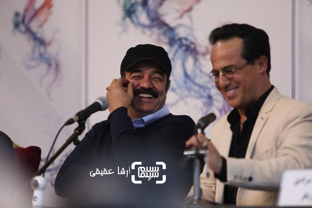 رامین راستاد و سعید آقاخانی در نشست خبری «کامیون» در سی و ششمین جشنواره فیلم فجر