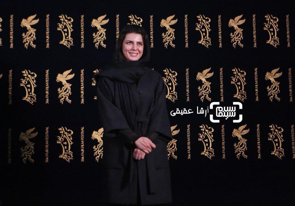 لیلا حاتمی در اکران فیلم «بمب یک عاشقانه» در جشنواره فیلم فجر 36