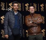عادل فردوسی پور و پژمان بازغی در پردیس ملت برای دیدن فیلم «بمب: یک عاشقانه»