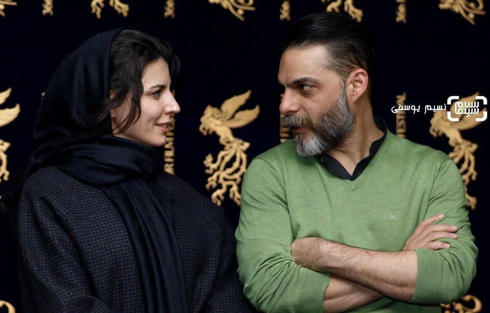 پیمان معادی و لیلا حاتمی در اکران فیلم «بمب یک عاشقانه» در جشنواره فیلم فجر 36