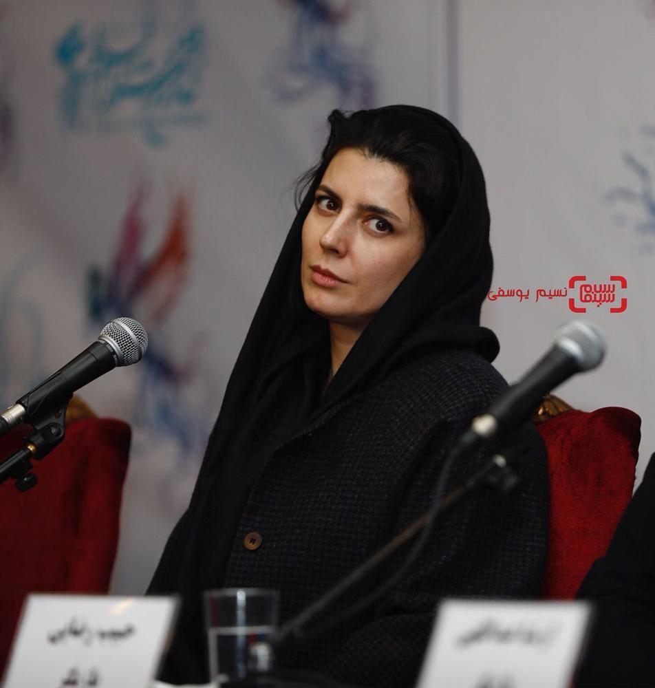 لیلا حاتمی در نشست خبری فیلم «بمب یک عاشقانه» در جشنواره فیلم فجر 36