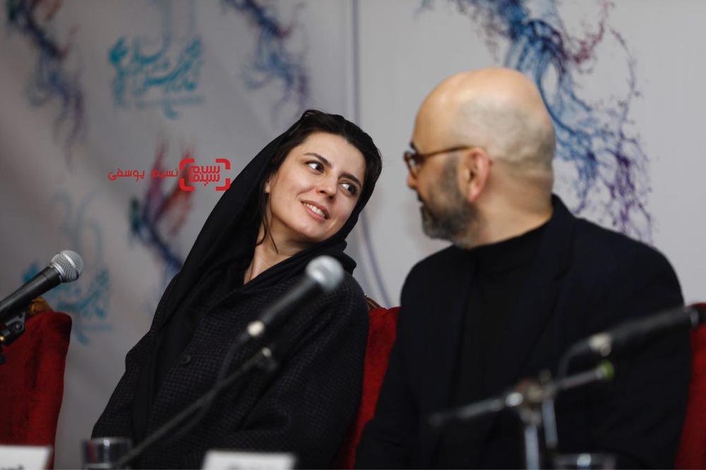 لیلا حاتمی در نشست خبری «بمب یک عاشقانه» در جشنواره فیلم فجر 36