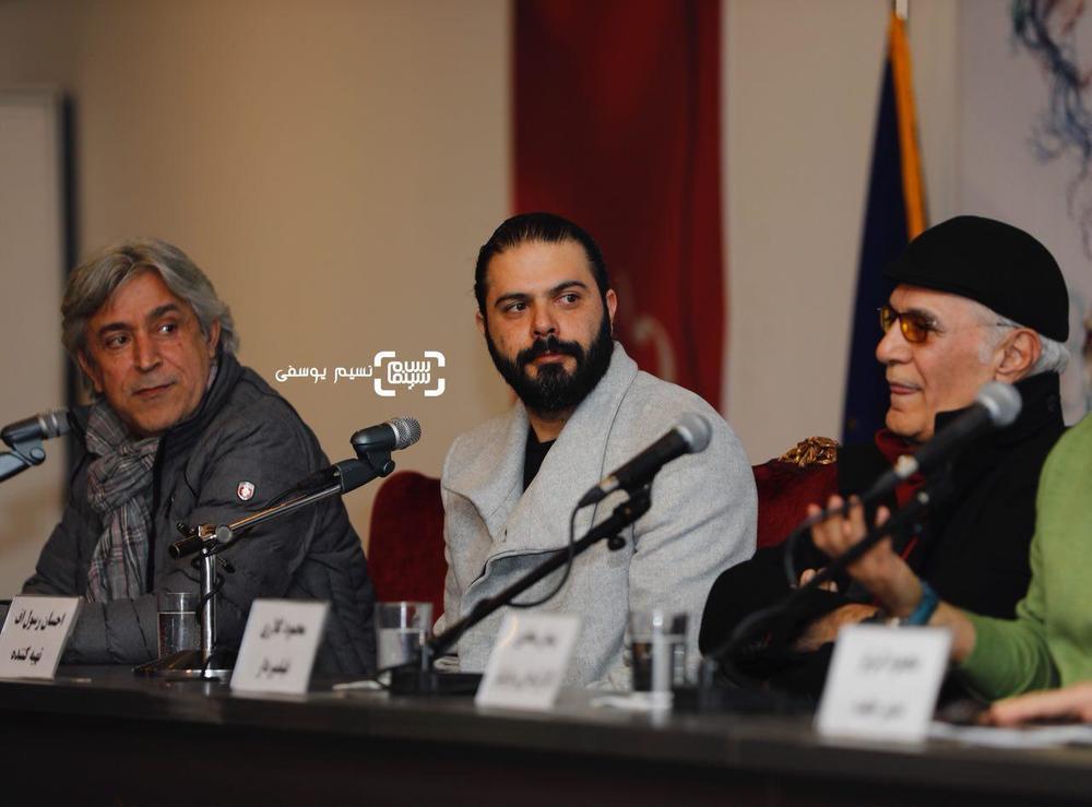 ایرج شهرزادی و احسان رسول اف در نشست خبری فیلم «بمب یک عاشقانه» در جشنواره فیلم فجر 36