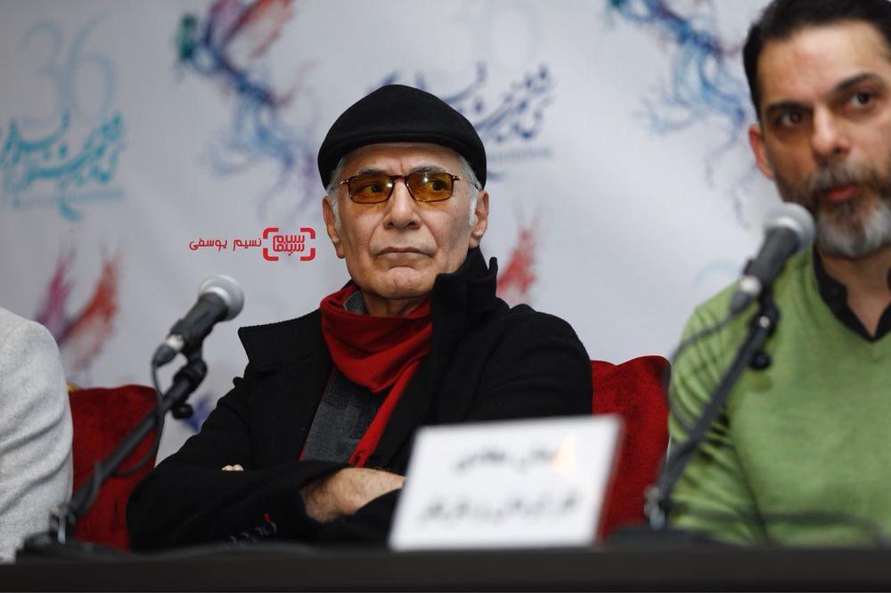 محمود کلاری در نشست خبری فیلم «بمب یک عاشقانه» در جشنواره فیلم فجر 36