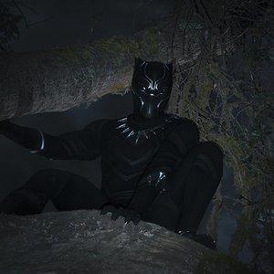 چادویک بوزمن در نمایی از فیلم سینمایی « پلنگ سیاه »