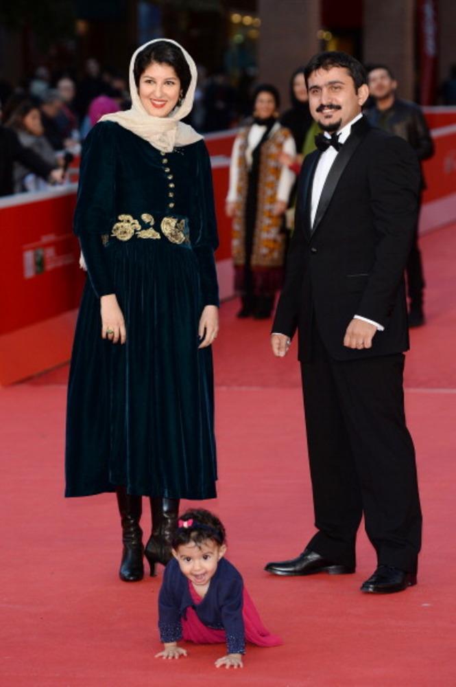 کیارش اسدی زاده در کنار همسر و فرزندش در هشتمین جشنواره فیلم رم