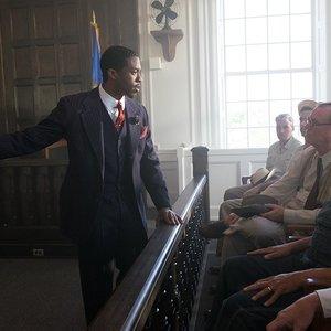 چادویک بوزمن در نمایی از فیلم سینمایی « مارشال »