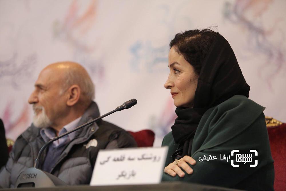 روشنک سه قلعهگی در نشست خبری فیلم «امیر» در کاخ رسانه در جشنواره فیلم فجر36