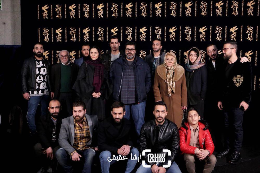 فتوکال فیلم «مغزهای کوچک زنگ زده» در کاخ رسانه سی و ششمین جشنواره فیلم فجر