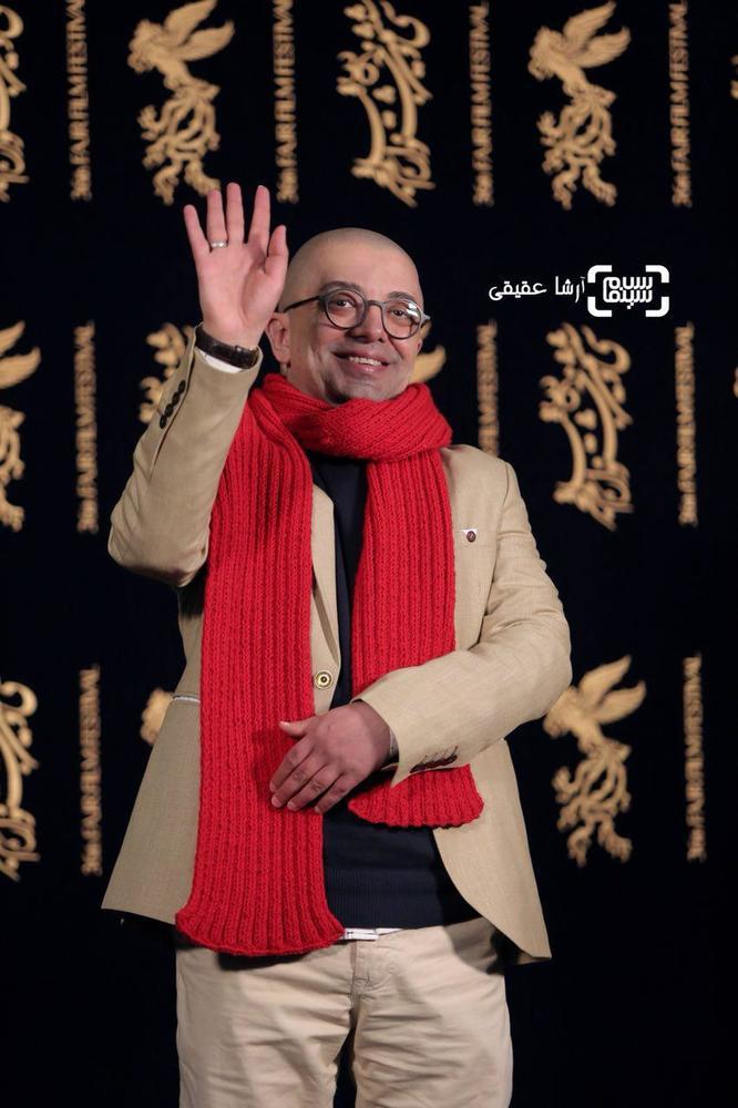 فرزین محدث در اکران فیلم «امپراطور جهنم» در کاخ رسانه سی و ششمین جشنواره فیلم فجر