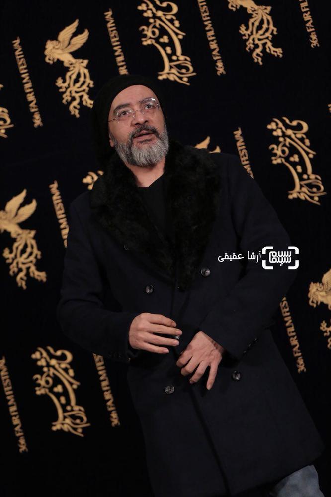 کارن همایون فر در فتوکال فیلم «اتاق تاریک» در کاخ رسانه سی و ششمین جشنواره فیلم فجر
