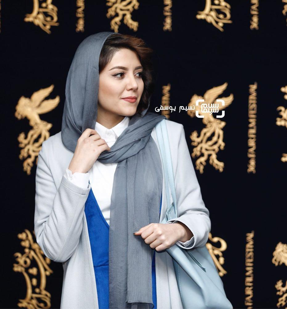 ندا عقیقی در اکران فیلم جشن دلتنگی در کاخ جشنواره فیلم فجر سی و ششم