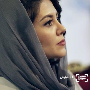 ندا عقیقی در نشست خبری فیلم «جشن دلتنگی» در کاخ جشنواره فیلم فجر سی و ششم