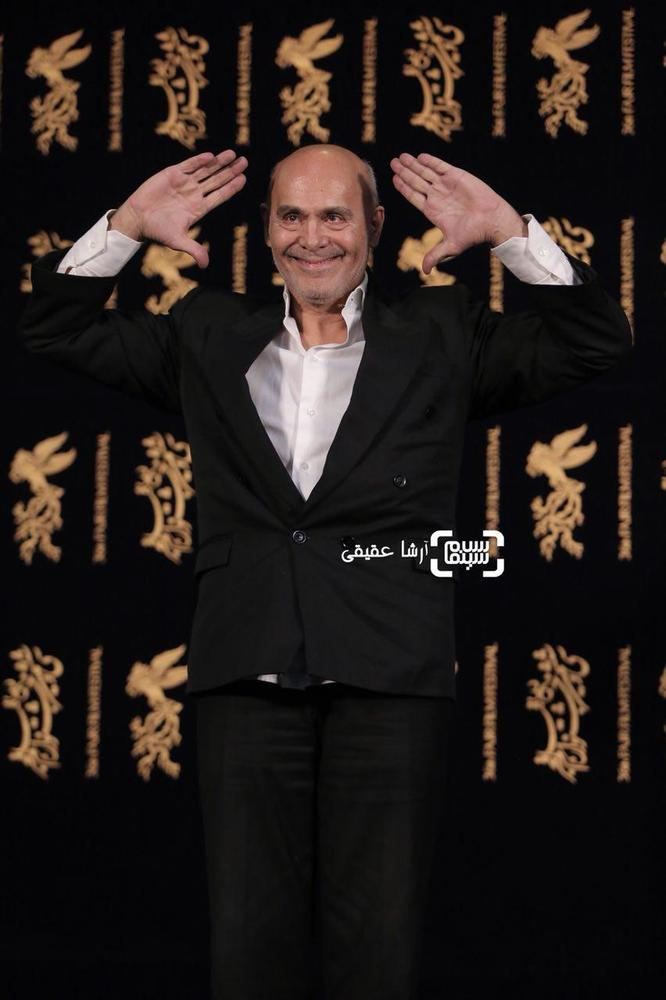 جمشید هاشم پور بازیگر فیلم «هایلایت» در کاخ رسانه سی و ششمین جشنواره فیلم فجر