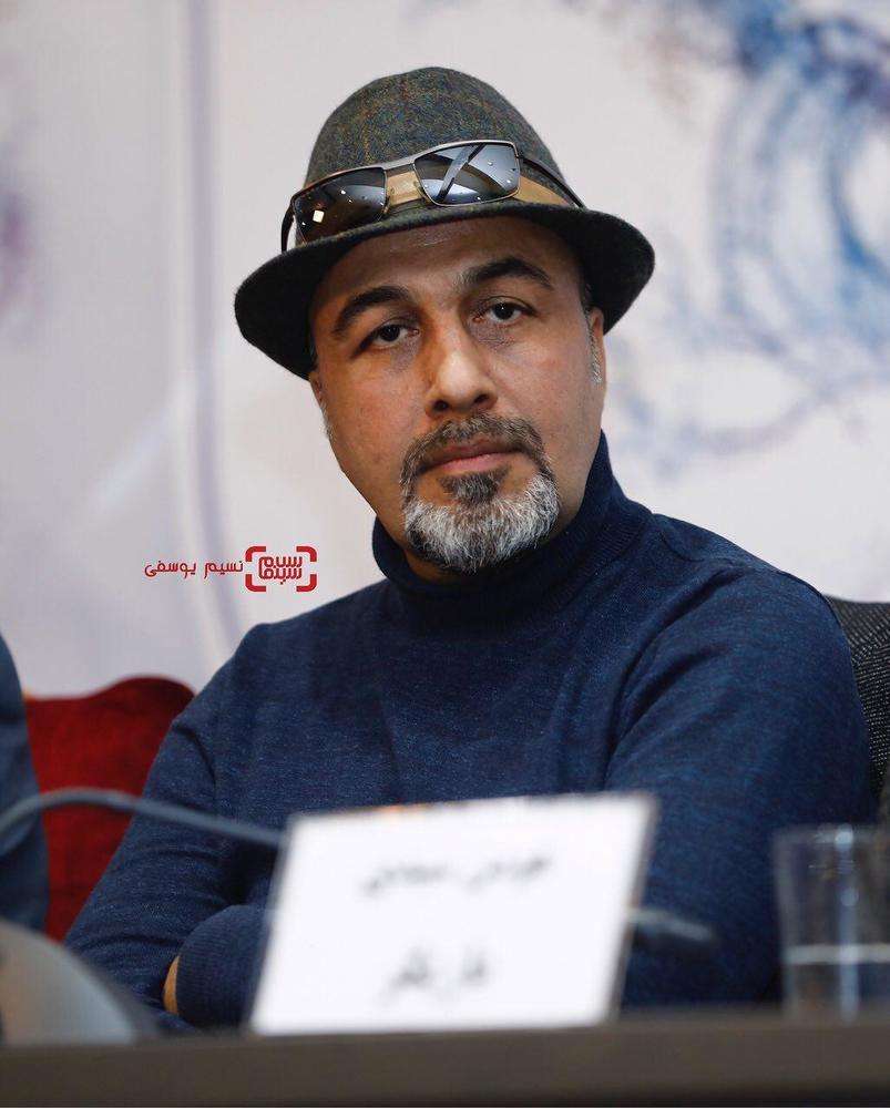 رضا عطاران در نشست خبری فیلم «مصادره» در کاخ رسانه سی و ششمین جشنواره فیلم فجر