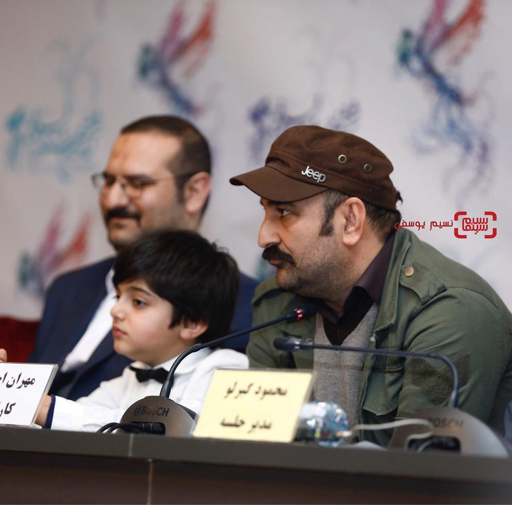 مهران احمدی در نشست خبری فیلم «مصادره» در کاخ رسانه سی و ششمین جشنواره فیلم فجر