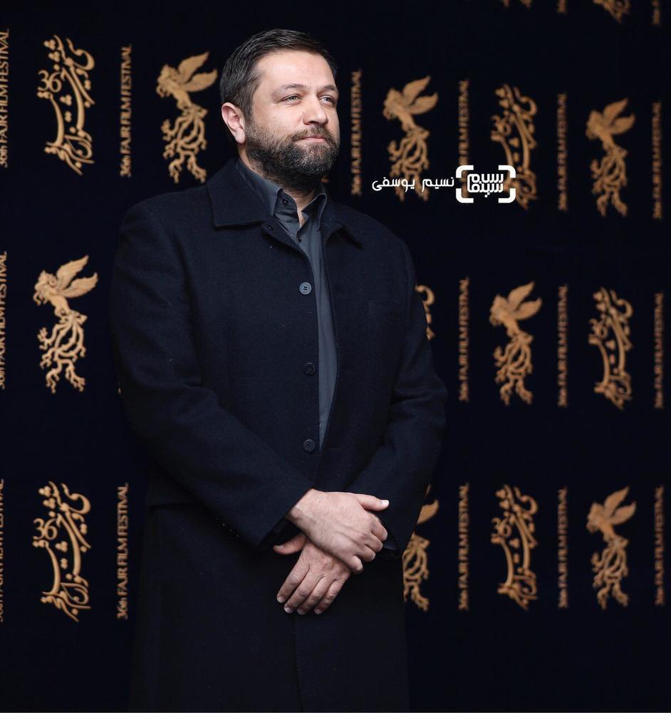 مزدک میرعابدینی در اکران فیلم «مصادره» در کاخ رسانه سی و ششمین جشنواره فیلم فجر
