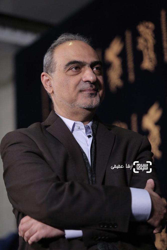 احمدرضا معتمدی در فتوکال فیلم «سوءتفاهم» در کاخ رسانه سی و ششمین جشنواره فیلم فجر