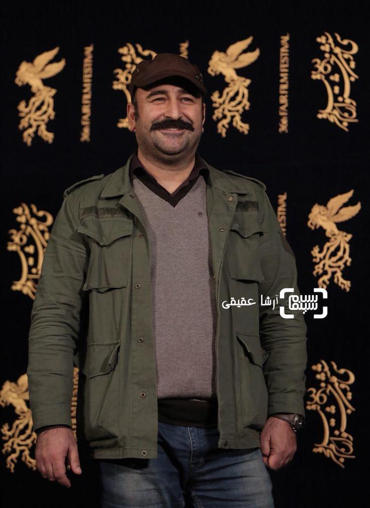 مهران احمدی در اکران فیلم «مصادره» در کاخ رسانه سی و ششمین جشنواره فیلم فجر