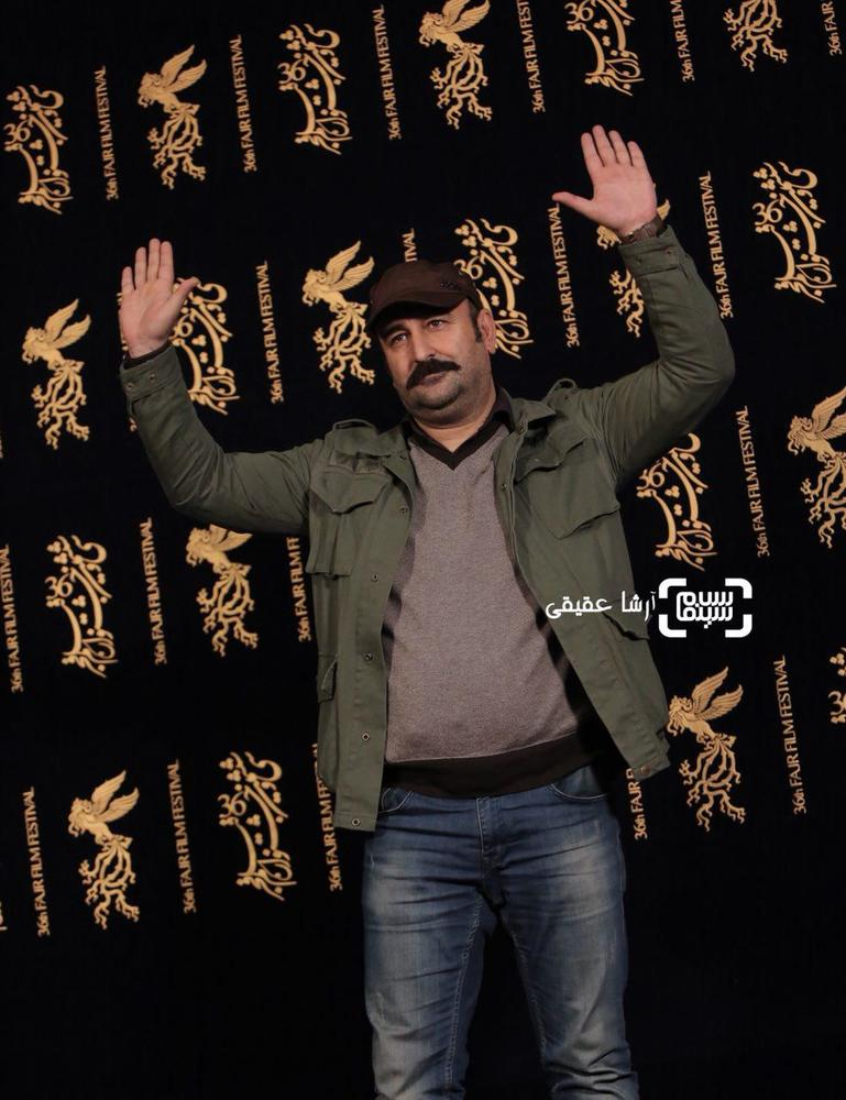 مهران احمدی در اکران «مصادره» در کاخ رسانه سی و ششمین جشنواره فیلم فجر