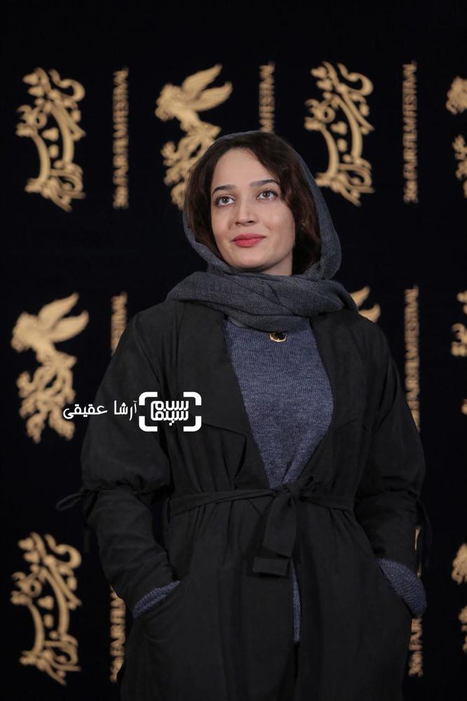 الهام نامی در فتوکال فیلم «کار کثیف» در سی و ششمین جشنواره فیلم فجر