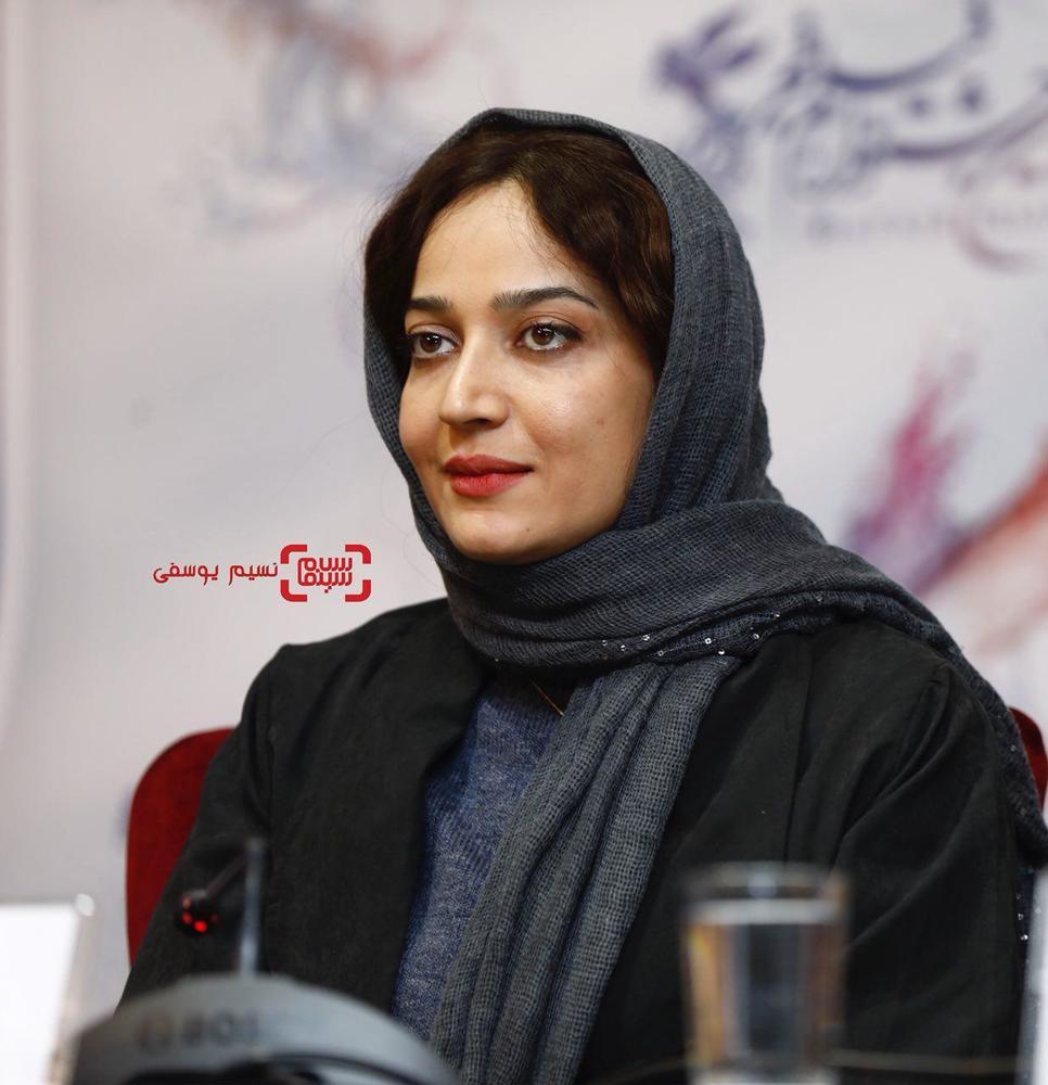 الهام نامی در نشست خبری فیلم «کار کثیف» در سی و ششمین جشنواره فیلم فجر
