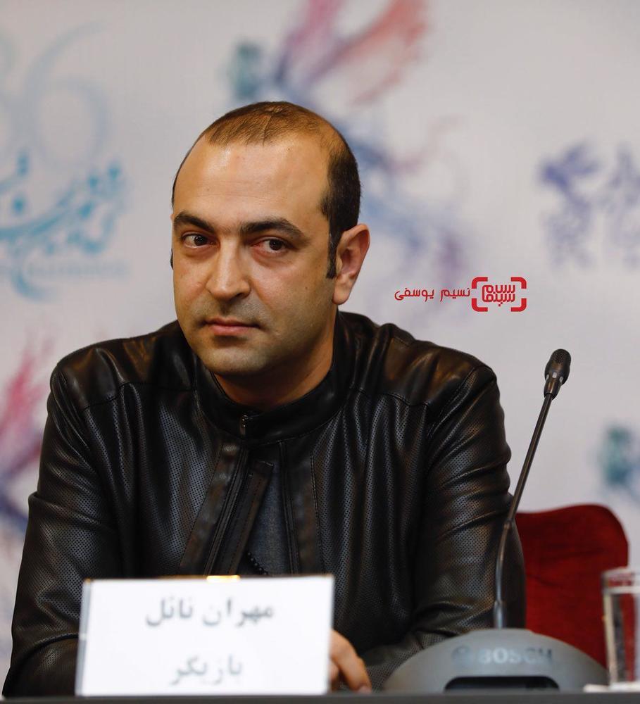 مهران نائل در نشست خبری فیلم «کار کثیف» در سی و ششمین جشنواره فیلم فجر
