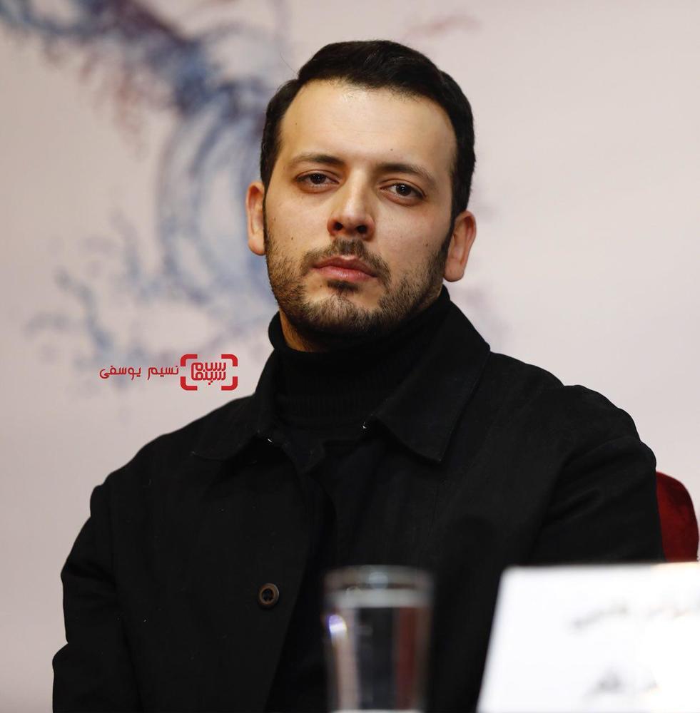 پدرام شریفی در نشست خبری فیلم «کار کثیف» در سی و ششمین جشنواره فیلم فجر