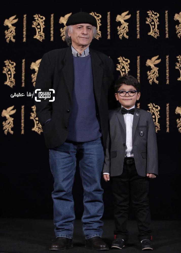 سام ولی پور و خسرو معصومی در فتوکال فیلم «کار کثیف» در سی و ششمین جشنواره فیلم فجر