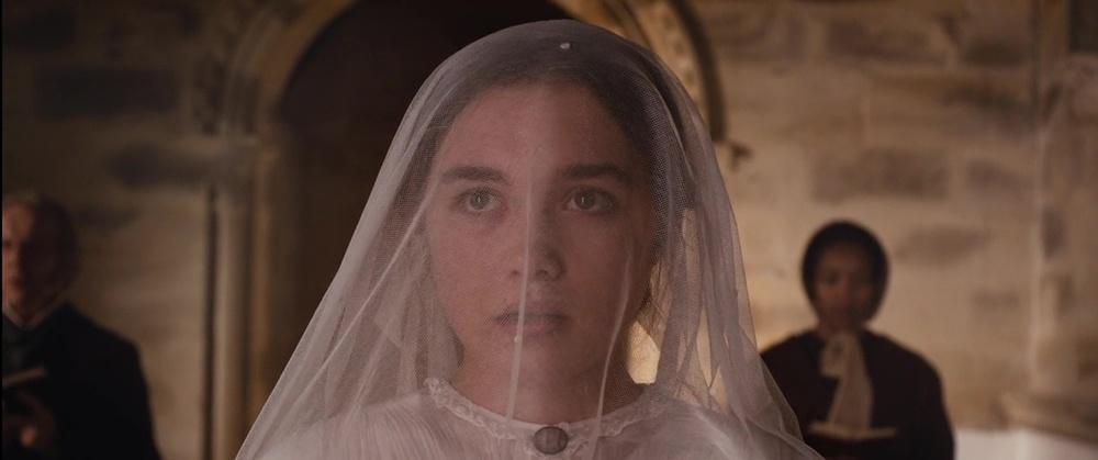فلورانس پو در نمایی از فیلم سینمایی «خانم مکبث »( Lady Macbeth )