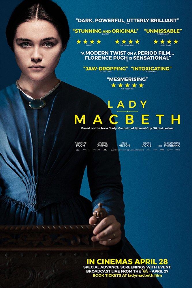 فلورانس پو در نمایی از پوستر فیلم سینمایی «خانم مکبث »( Lady Macbeth )