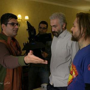 هادی حجازی فر، علی عطشانی و احمد مهران فر در پشت صحنه فیلم «کاتیوشا»