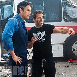 زاک اسنایدر و بن افلک در پشت صحنه «بتمن علیه سوپرمن: طلوع عدالت»