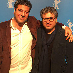 عباس امینی و مهران قائدی پور در اکران فیلم «هندی و هرمز» در جشنواره فیلم برلین 2018