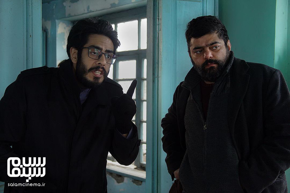 پوریا شکیبایی و شاهد احمدلو در پشت صحنه فیلم «مشمشه»